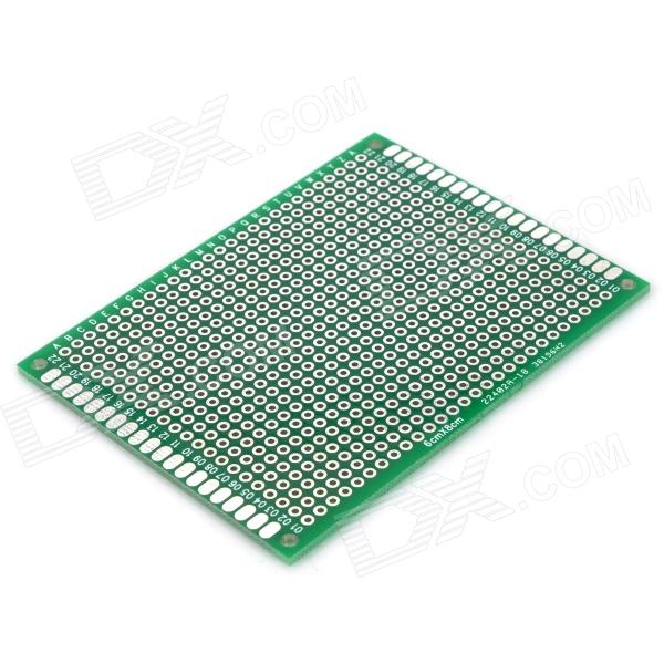 Double-Sided PCB Prototype Board for Arduino (Works with Official Arduino Boards) 6 in 1 double sided pcb prototype boards set green