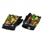 MC 5.11 Tactical Half Finger Gloves - Camouflage Green + Black