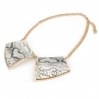 Elegant Copper Rhinestone Decoration Collar Necklace - Grey + Black