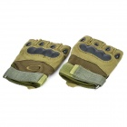 Tactical Outdoor Sports Cycling Riding Half Finger Gloves - Army Green
