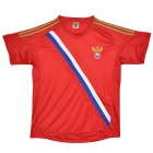 2012 European Cup Russia National Team Home Soccer Jersey - Red (Size XXXL)