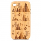 Stylish Tree Pattern Protective Wooden Back Case for Iphone 4 / 4S - Wood Color