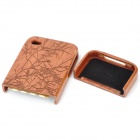 Carved Birds on Tree Pattern Protective Wooden Back Case for Iphone 4 / 4S - Brown