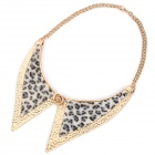 Fashion Copper Neck Decoration Collar Necklace - Black + Grey + Golden
