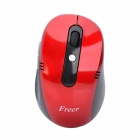 Freer LW-710 Wireless Optical Red Laser Mouse - Red + Black (2 x AAA)