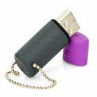 Mini USB 2.0 Flash Drive - Purple + Grey (2GB)