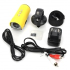 HD 1080P Waterproof Mini Sport Digital Camera - Yellow