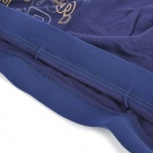 Men's Soft Bamboo Charcoal Fiber Anion Energy Boxer Brief Underwear Pants - Deep Blue (Size-M)