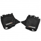 Tiercel Sports Fitness Boxing & Outdoor Cycling Half Finger Gloves - Black (Pair / Size XL)