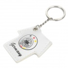 Germany Football Team Logo Soccer Shirt Style Keychain with Yellow Light - White (3 x LR41)