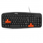 DY-K802 PS2 103-Key Wired Gaming Keyboard - Black (138cm-Cable)