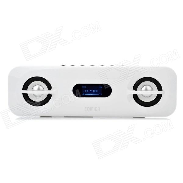 EDIFIER M15PLUS 1.8 LCD Portable Media Player Speaker with FM Radio / USB / SD - White stylish portable mp3 music speaker with fm radio sd slot usb host multi color led white