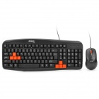 DY-KM812 PS2 103-Key 800DPI Wired Gaming Keyboard - Black (138cm-Cable)