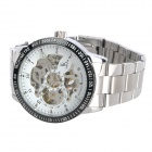 Genuine IK Colouring Waterproof Self-Winding Mechanical Wrist Watch - White