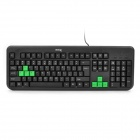 DY-K805 PS2 108-Key Wired Gaming Keyboard - Black (138cm-Cable)
