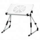 Portable USB Powered Fan Cooling Table for Laptops - Silver