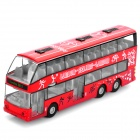 Pull-Back Double-Decker London Bus Display Toy with Sound Effect - Red (3 x L1154H)