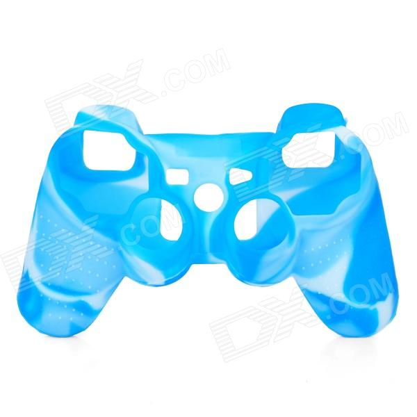 Protective Silicone Cover Case for PS3 Controller - Camouflage Blue one piece 1x brand new high quality silicon protective skin case cover for xbox 360 remote controller blue green mix color