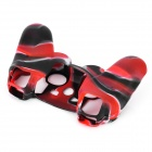 Protective Silicone Cover Case for PS3 Controller - Camouflage Red
