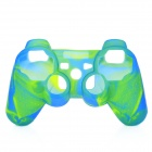 Protective Silicone Cover Case for PS3 Controller - Camouflage Green + Blue