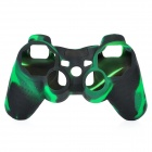 Protective Silicone Cover Case for PS3 Controller - Camouflage Dark Green