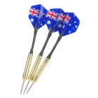Professionelle Sharp Aluminum Alloy Dart-Set (3-Piece/Flag von Australien Pattern Flug)