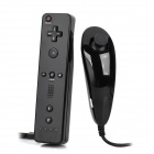 Nunchuck + Remote Controller w/ Silicone Cases for Wii - Black (2 x AA)