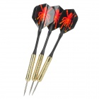 Professional Sharp Aluminum Alloy Darts Set (3-Piece/Red Spider Pattern Flight)