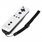GOiGOME Nunchuck + Remote Controller w/ Motion Plus / Silicone Case for Wii - White + Black (2 x AA)