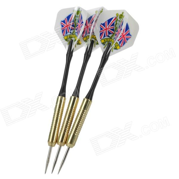 Professional Sharp Aluminum Alloy Darts Set (3-Piece/Flag of United Kingdom Pattern Flight) flag of the united kingdom large 1 5 meter size