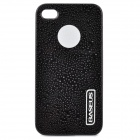 Protective Water Drop Style Back Case for Iphone 4 / 4S - Black
