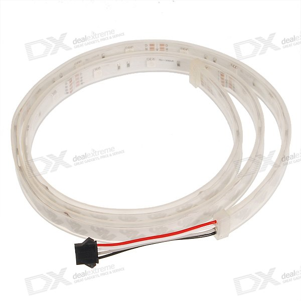 30-LED 5.5W RGB Silicone LED Light Strip (12V DC)
