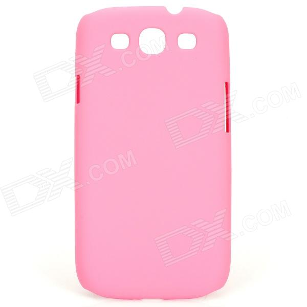 Protective Baking Finish Hard Plastic Case for Samsung Galaxy S3 i9300 - Pink