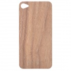 Protective Wooden Back Skin Sticker + Screen Protector for iPhone 4 / 4S - Brown (Walnut)