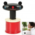 Cartoon Style Single Bead Rolling Ball Roller Full Body Massager - Black + Yellow + Red