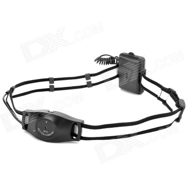 Outdoor Bike Cycling Action One-button Recording Head Camera Camcorder - Black
