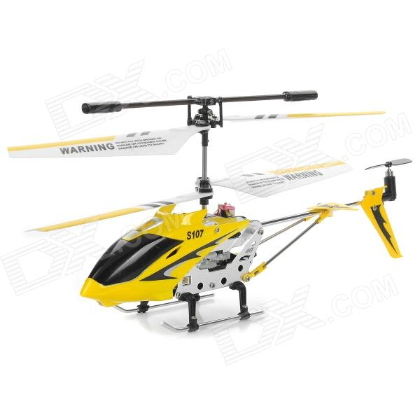Rechargeable 3.5-CH R/C Helicopter with Gyroscope & IR Controller - Yellow rechargeable wireless 3 ch control r c radio control helicopter with gyroscope