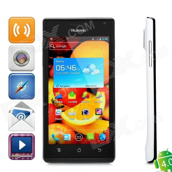 "Huawei U9200 Android 4,0 WCDMA-Handy w/4.3 ""Kapazitive, GPS, Wi-Fi-und Single-SIM - Black + White"
