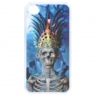 Unique Change Freely 3D Graphics Protective Case for Iphone 4 / 4S - Boy + Skeleton Pattern (Blue)