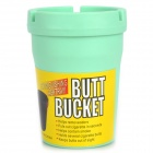 Auto Car Butt Bucket Extinguishing Ashtray - Green