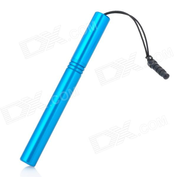 Stylus Pen with Anti-Dust Plug for Iphone / Ipad / Cell Phone - Blue universal nylon cell phone holster blue black size l