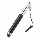 Retractable Stylus Pen with Anti-Dust Plug for Iphone / Ipad / Cell Phone - Black + Silver