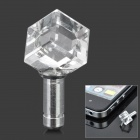 Diamond Rhombus Shaped Anti-Dust Plug for Iphone / Ipad / Cell Phone - Transparent (3.5mm Jack)