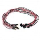 Dupont 4-Pin Male to Female Extension Wire Cable for Arduino (40cm / 10-Piece Pack)