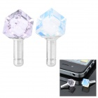 Diamond Rhombus Shaped Anti-Dust Plug for Iphone / Cell Phone - Pink + White (3.5mm Jack / 2-Piece)