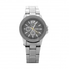 Elegant Stainless Steel Band Quartz Analog Wrist Watch - Black (1 x LR626)
