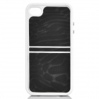 2-in-1 Protective ABS Bumper Frame w/ Back Cover for Iphone 4 / 4S - Black + White