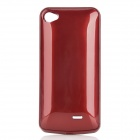 2000mAh External Power Battery Back Case w/ Screen Protector Set for iPhone 4 / 4S - Red