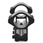 11mm Dual Aluminum Alloy Bracket Flashlight and Laser Gun Mount with Hex Wrench - Black