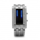 Stylish Zinc Alloy Band Blue Light LED Digital Wrist Watch - Silver (2 x CR2016)